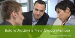 Before adding new mastermind group members