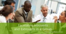 Facilitating introverts and extroverts