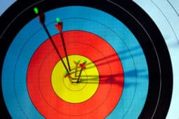 Target with Arrows in Bullseye