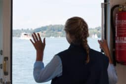 Person Waving Goodbye